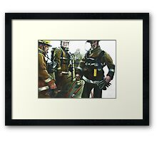 BA teams Framed Print
