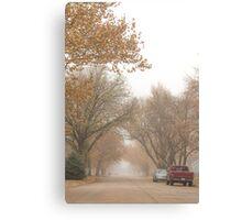 Small Town Autumn Canvas Print