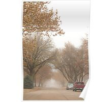 Small Town Autumn Poster