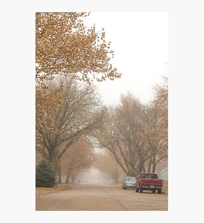 Small Town Autumn Photographic Print