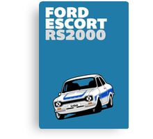 Fortitude's Ford Escort Mark 1 RS2000 Poster Canvas Print