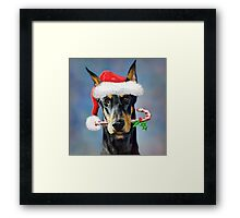 Doberman Christmas Framed Print