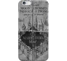 Marauder's Map - Black and White iPhone Case/Skin