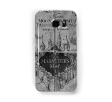 Marauder's Map - Black and White Samsung Galaxy Case/Skin