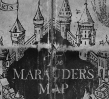 Marauder's Map - Black and White Sticker