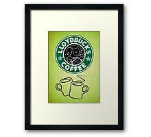 LloydBucks! Hot? (Iced??) Coffee! Framed Print