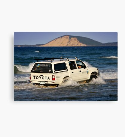 Driving around Mudlo Rocks at Rainbow Beach Canvas Print