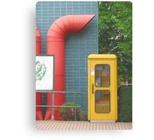 European Phone Box Canvas Print