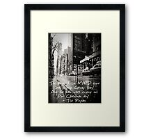 Fairytale of New York Framed Print