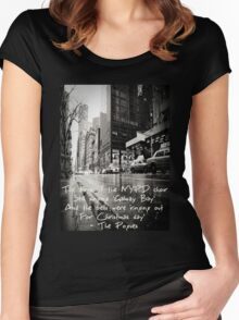 Fairytale of New York Women's Fitted Scoop T-Shirt