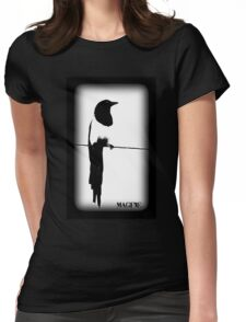 Magpie Black and White T-shirt Womens Fitted T-Shirt