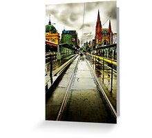 Princes Bridge Greeting Card