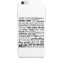 The Beatles Songs iPhone Case/Skin