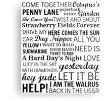 The Beatles Songs Metal Print