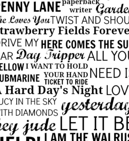 The Beatles Songs Sticker