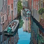 Morning reflections, Venice by Freda Surgenor
