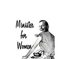 Tony Abbott - Minister for Women Photographic Print