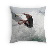 Power Surfer Throw Pillow
