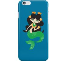 Green lady mermaid iPhone Case/Skin