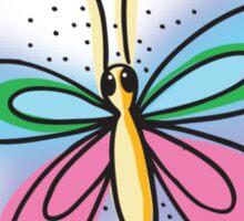 Flutterbye simple Butterfly! rough Sticker