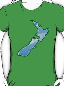NEW ZEALAND trendy map island T-Shirt