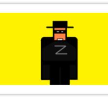 ZORRO minimal  Sticker