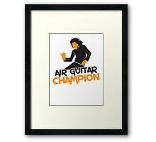Air GUITAR Champion Framed Print