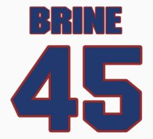 National Hockey player David Brine jersey 45 by imsport