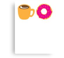 Coffee and Doughnut! sweet treats! Canvas Print