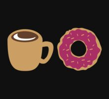 Coffee and Doughnut! sweet treats! by jazzydevil
