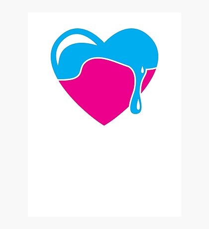 Love heart dripping cute! Photographic Print