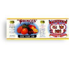 AJC Label: Princes Jams Canvas Print