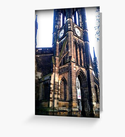 Church near the Haymarket in Newcastle Greeting Card