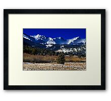 A View From Estes Park Framed Print