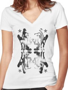 Girls! Girls! Girls! Women's Fitted V-Neck T-Shirt