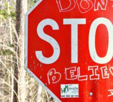 Stop Sign Art Sticker