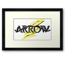 Tv Series Arrow and Flash cross-over Framed Print