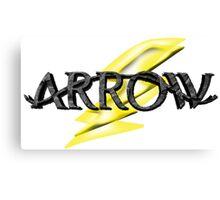 Tv Series Arrow and Flash cross-over Canvas Print