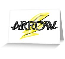 Tv Series Arrow and Flash cross-over Greeting Card