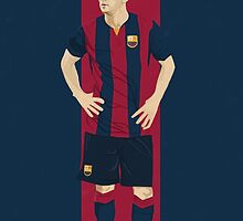 Lionel Messi Illustration by Gary Ralphs