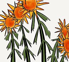 Sunflowers, crazy flowers, nature inspired  by windflower