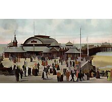 North Blackpool Pier England in 1906 Photographic Print