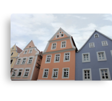 Pastel Houses - JUSTART ©  Canvas Print