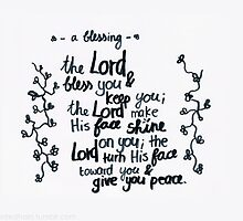 Numbers 6: The Lord bless you by countedhairs