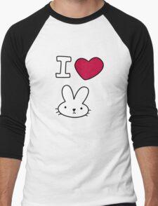 I<3Bunny Men's Baseball ¾ T-Shirt