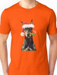 Doberman Christmas Unisex T-Shirt