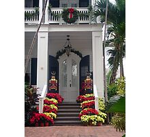 Pretty Christmas Deco in Key West, FL Photographic Print