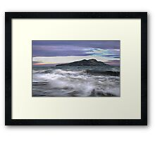 Twilight Holy Isle Framed Print