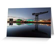 Glasgow River Clyde Reflection Greeting Card
