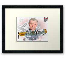"Oberleutnant Josef ""Pips"" Priller Framed Print"